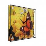 Часы настенные 30*40см стекло бабочка