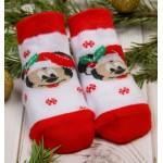 Носки детские Новогодние. Бэби, Микки Маус 12-14см 1-2г.  1493219