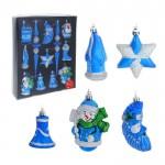 Набор игрушек шар 12шт. ассорти синий
