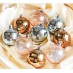 Набор игрушек шар 9шт. диско золото серебро