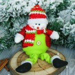 Мягкая игрушка-СНЕГОВИК в пиджаке 9-30см