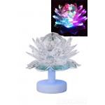 Дисколампа  цветок на подставке Д 10см. 3Вт 220v