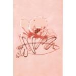 Декор Аликанте-3 розовая с платиной
