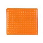 Шторка для ванной однотонная оранж 3D 180*180