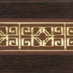Карниз Галант-Амулет 3-х рядный 2,5м Венге