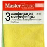 Салфетка для уборки 30*30 микрофиб. 3шт.упак.