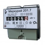 Счетчик Меркурий 201.7  1ф 5-60А DIN