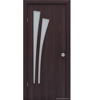 Полотно дверное Лагуна 800 венге /стекло/ микрофлекс 3D