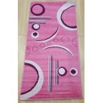Ковер 0.8*1.5 фризе Light 3712R roze-roze