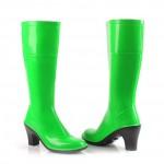Сапоги резиновые женские зеленые