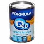Эмаль ПФ-115 коричневая 2.7кг/6шт FORMULA Q8