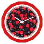 Часы настенные пласт д-28,2см ягоды