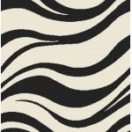 Ковер 1*2 Витебск (шегги) sh/36/43о черно-бел волна Овал