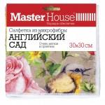 Салфетка микрофибра 30*30см Английский сад