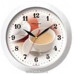 Часы настенные 26,5см пластик Чашка кофе
