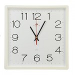 Часы настенные 29,5*30см пластик Квадратура