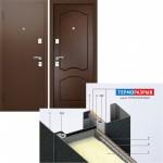 Дверь мет. ЭКОТЕРМ 207 (960*2050L) левая Венге