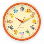 Часы настенные 28,2см пластик оранжевые