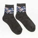 Носки женские махровые 339М темно-серый р.23-25