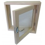 Окно для бани 50*50*100 СМ2 стекла Сатин