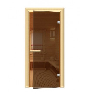 Дверь 1900*700 мм ДЛЯ БАНИ термостекло Бронза