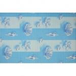 Коврик мерный ПВХ 0,65*15м    6684 бел-голубой, ракушки