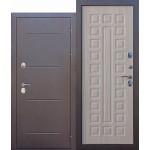 Дверь мет. ISOTERMA 11см (960R) правая медный антик Лиственница мокко