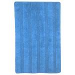 Коврик для ванной хлопок 45*75 полоска голубой