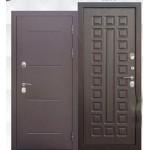 Дверь мет. ISOTERMA 11см (860L) левая медный антик Венге