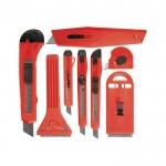 Набор ножей выдвиж. лезвия 9мм-4, 18мм-2, +скребки 40-52мм 2шт Matrix