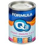 Грунт-эмаль по ржавчине 3в1 шоколад0,9л/FORMULA Q8