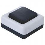Кнопка для звонка черно-белая