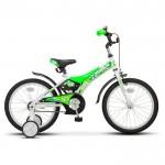 Велосипед 18 Stels Jet белый/салатовый