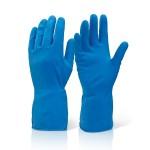 Перчатки хозяйственные латекс GLOVES синие XL