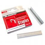 Скобы 10 мм (1000 шт) тип 53 для мебельного степлера Matrix