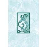 Декор Афина аквамарин (зеленый) 2-Н 200*300мм