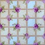 Клеенка Декорама  096С тк /1,4м*20м/ цветы сирен,фиолет фон