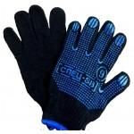 Перчатки Х/Б с апликатором черные  ПВХ 8 Спец SB 042м