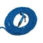 Шланг поливочный синий растягивающийся 7,5-22,5м с пистолетом