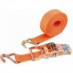 Ремень багажный с крюками, 8*0,038м, храповой механизм 1500кг