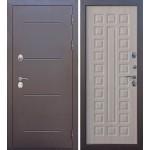 Дверь мет. ISOTERMA 11см (860R) правая медный антик Лиственница мокко