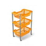 Этажерка пластм. 3 секц. оранж Джета