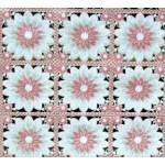 "Клеенка ""Лейс""ажурная 073А-ML розовые цветы на белом  (132*22 м/рул)"