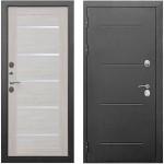Дверь мет. ISOTERMA 11см (860L) левая серебро Лиственница беж Царга