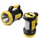 Фонарь-прожектор LED 5W+10W 3 реж. желт. КОСМОС