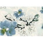 Клеенка Декомир  38-3 н/о 1,32*20м Орхидея ванда голубой