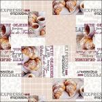 Клеенка Декорама  067А тк /1,4м*20м/ кофе и круассаны