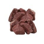 Малиновый кварцит камни 20кг коробка обвалованный