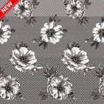 Клеенка Декорама  038Е тк /1,4м*20м/ цветы на сером