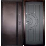 Дверь мет. Ангара (850мм) правая Антик медь /вн. Венге/Мин. вата